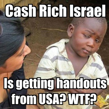 Now we know where Israel get's all it's money for weapons.