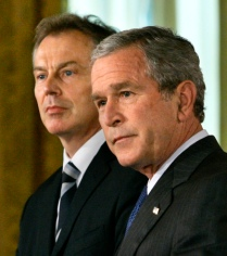 George W. Bush, Tony Blair